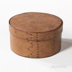 Mustard-painted Round Pantry Box