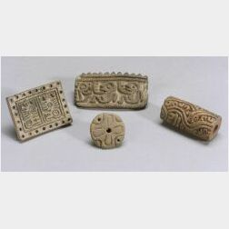 Four Pre-Columbian Pottery Stamps