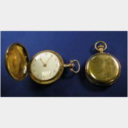 Two 18kt Gold Hunting Case Pocket Watches, English