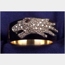 18kt Gold, Diamond, and Enamel Ring, Carrera y Carrera