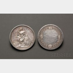 Two Silver Massachusetts Charitable Mechanics Association Award Medals