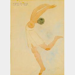 Auguste Rodin (French, 1840-1917)      La Danseuse en Position Attitude sur Demi Pointe,
