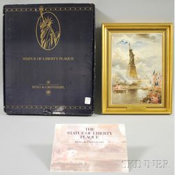 Bing & Grondahl Commemorative Porcelain Plaque of the Statue of Liberty