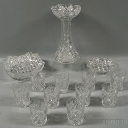 Group of Brilliant-cut Glass Items