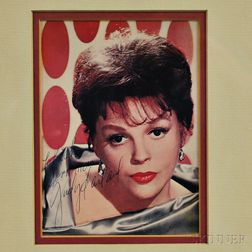 Framed Signed Photograph of Judy Garland