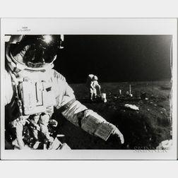 Apollo 14, EVA, Two Photographs Taken by an Automatic Camera.