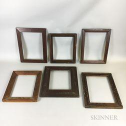 Fourteen Veneered and Molded Frames