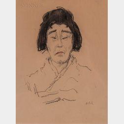 Emil Orlik (Czech, 1870-1932)      Portrait of an Asian Woman