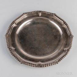 George III Sterling Silver Dinner Plate