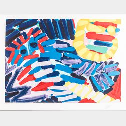 Karel Appel (Dutch, 1921-2006)      Two Unframed Color Lithographs on Paper from the Portfolio Ten by Appel :  About a Couple