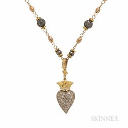Gold and Diamond Pendant Necklace