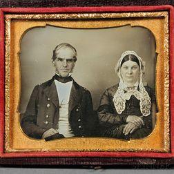 "Sixth-plate Daguerreotype Portrait of ""Gen. & Mrs. Stone,"""