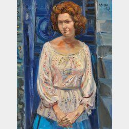 Costantino Spada (Italian, 1922-1975)    Portrait of a Woman (Gelsy Adam)