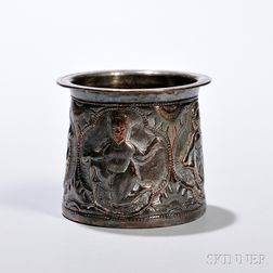 Silver-plated Copper Repousse Cup