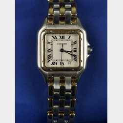 Gentleman's 18kt Gold  and Stainless Steel Wristwatch