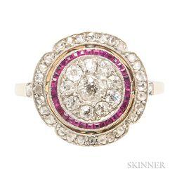 Diamond and Gem-set Swivel Ring