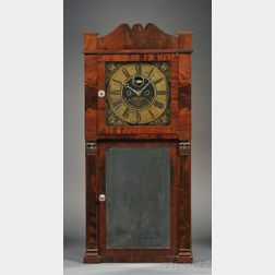 Hotchkiss & Benedict Mahogany Empire Shelf Clock