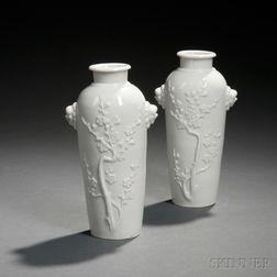 Two Blanc-de-Chine Vases