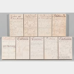 Nine Framed Mathematical Exercise Pages