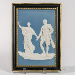 Wedgwood Solid Light Blue Jasper Plaque