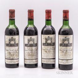 Chateau Leoville Las Cases 1967, 4 bottles