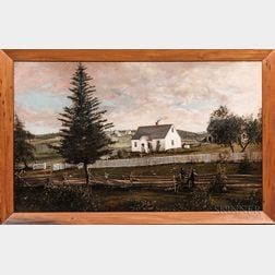 American School, 19th Century      Farmstead in Sandwich, Massachusetts