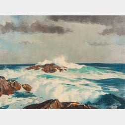 Harry Russell Ballinger (American, 1892-1993)      The Eternal Sea