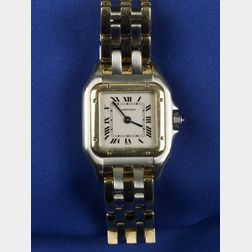 Lady's 18kt Gold and Stainless Steel Wristwatch