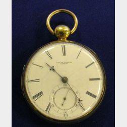 18kt Gold Openface Pocket Watch, David Taylor, London