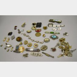Group of Estate and Men's Jewelry and Accessories