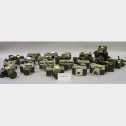 Large Group of Mixed Cameras