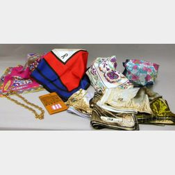 Group of Vintage Scarves and Assorted Accessories