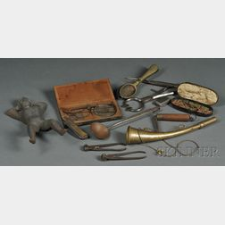 Thirteen Assorted Early Metal Household Implements and Devices