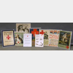 Nine WWI Red Cross Lithograph Posters