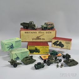 Group of Britains Ltd. Painted Metal Army Vehicles and Equipment