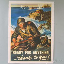 Amos Sewell U.S. WWII Ready For Anything Thanks To You!   Poster