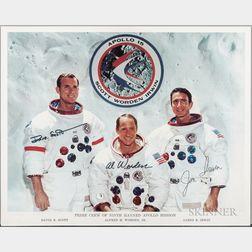 Apollo 15, Prime Crew, Autopen Signed Lithograph.