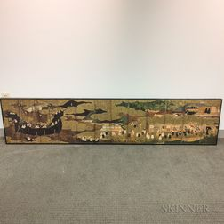 Reproduction of a Painted Japanese Screen