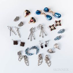 Group of Designer Costume Earclips