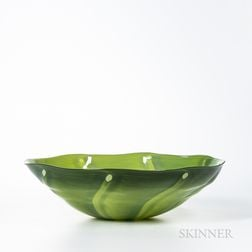 Catherine Benoît (Canadian, b. 1978) Studio Art Glass Bowl