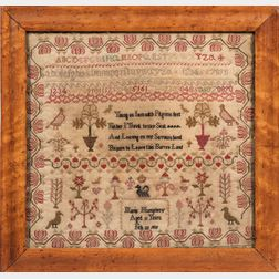 "Needlework Sampler ""Maria Humphrey,"""
