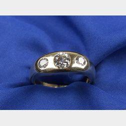 Gentleman's Three-Stone Diamond Ring