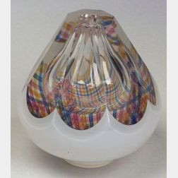 "Gary Beecham Art Glass ""Faceted Textile Vessel,"""