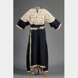 Central Plains Blue Trade Cloth Woman's Dress