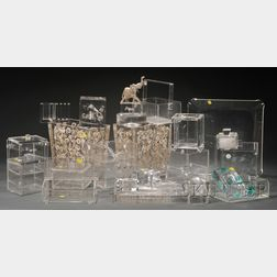 Twenty-eight Assorted Lucite Household Items