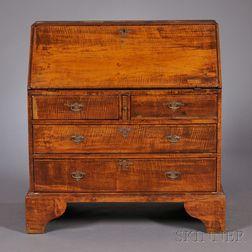 Diminutive Queen Anne Tiger Maple Slant-lid Desk