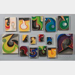 Kazumi Amano (Japanese/American, 1927-2001)      Fifteen Prints: Cycle 15