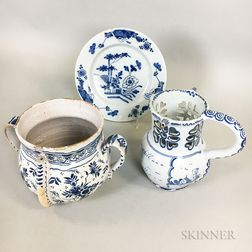 Three Delft Ceramic Items