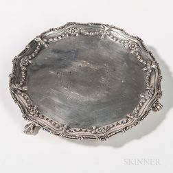 George III Sterling Silver Circular Waiter