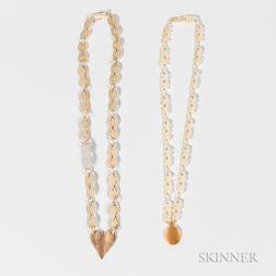 Two Eskimo Filigree Necklaces